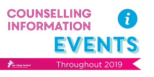 Counselling Information Event: 19th August 2019