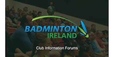 Badminton Ireland Club Information Forum - Ulster