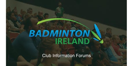 Badminton Ireland Club Information Forum - Ulster tickets