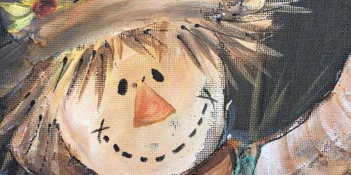 Fall Scarecrow Painting Paint Shoppe Fundraiser