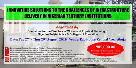 Workshop for Nigerian Polytechnics & Colleges of Education W&PP Directors tickets