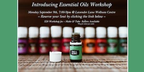 Introducing Essential Oils Workshop tickets