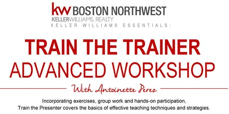 Train The Trainer Advanced Workshop with Antoinette Perez tickets