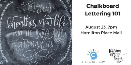 Chalkboard Lettering 101 tickets