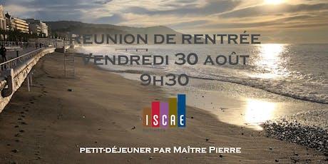 Réunion rentrée ISCAE tickets