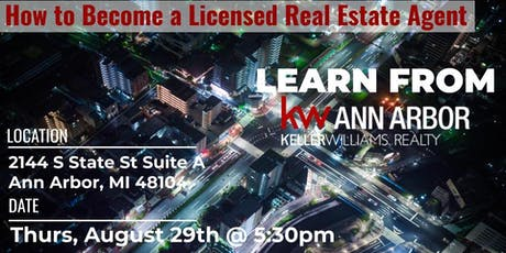 How to Become a Licensed Real Estate Agent tickets