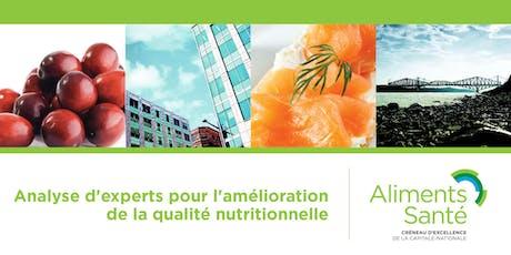 Diagnostic d'experts pour l'amélioration de la qualité nutritionnelle tickets