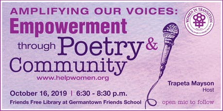 Amplifying Our Voices: Empowerment Through Poetry & Community tickets