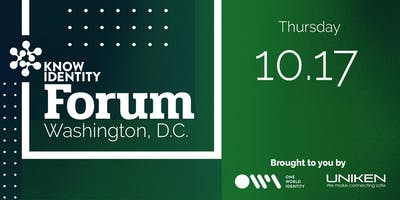 KNOW Identity Forum Washington DC: Travel and Border Protection