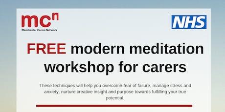 FREE Modern Meditation workshop for carers tickets
