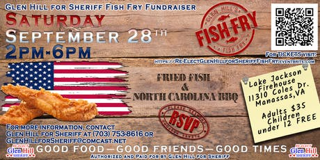 Glen Hill for Sheriff Fish Fry Fundraiser tickets