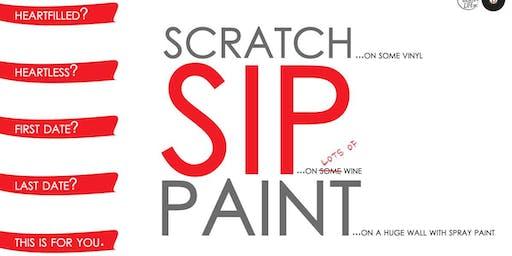 Scratch Vinyls, Sip Wine, & Spray Paint