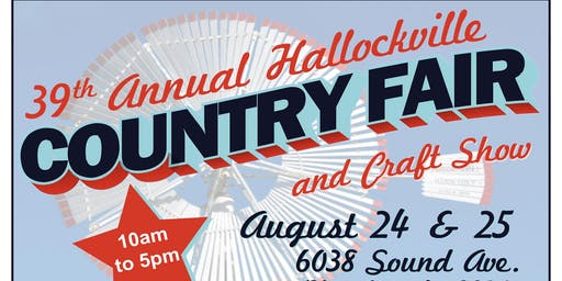 39th Hallockville Country Fair and Craft Show
