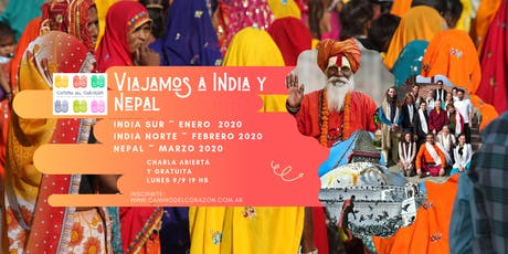 India y Nepal 2020 - Charla abierta informativa entradas
