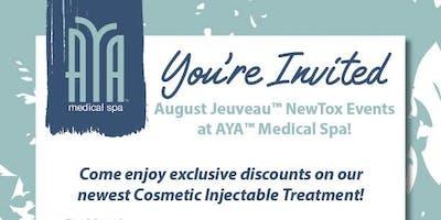 Jeuveau™ NewTox Event at AYA™ Medical Spa Avalon