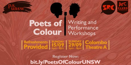 Poets of Colour | Writing and Performance Workshops by Poetry Society UNSW tickets