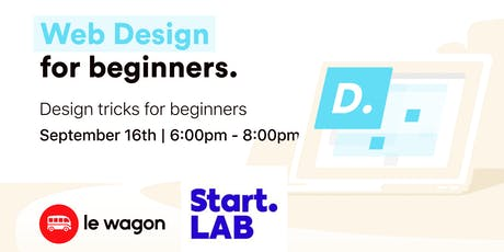 Web design for beginners with Start.LAB tickets