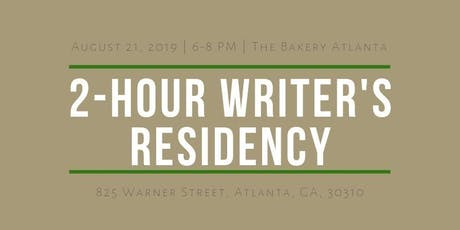 2-Hour Writing Residency tickets