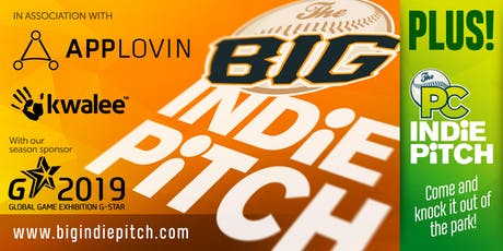 The Big Indie Pitch & PC Indie Pitch with AppLovin, Kwalee, and G-STAR tickets