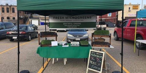 Grateful Greens visits Kaukauna Famers Market