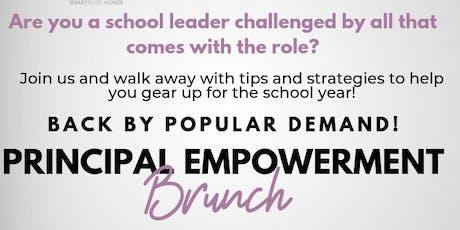 "Principal Empowerment Brunch - Featuring April Ervin Author of ""The Burnout Factor"" tickets"