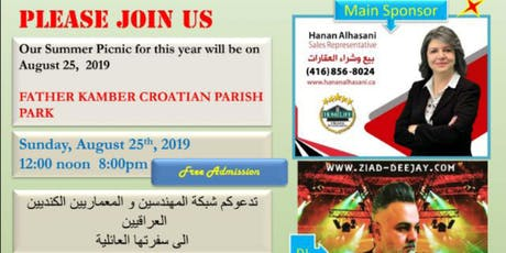 Canadian Network of Iraqi Eng. & Arch. Summer Picnic tickets