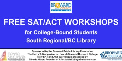 FREE SAT/ACT WORKSHOPS for college bound students