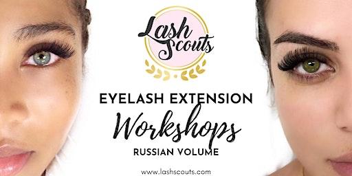 Lash Scouts Russian Volume Eyelash Extension Workshop (SPANISH)