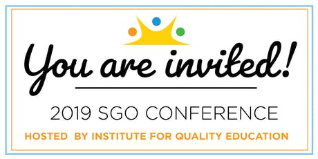 2019 SGO Conference tickets