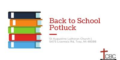 Back to School Potluck