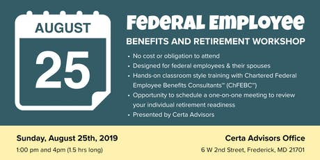 Federal Employee Benefits & Retirement Workshop tickets