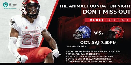 UNLV Rebel Football's Animal Foundation Night tickets