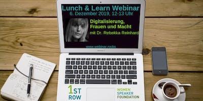 """Webinar \""""Digitalisierung, Frauen und Macht\"""" mit Dr. Rebekka Reinhard"""