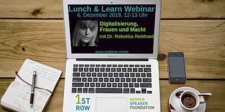 """Webinar """"Digitalisierung, Frauen und Macht"""" mit Dr. Rebekka Reinhard Tickets"""