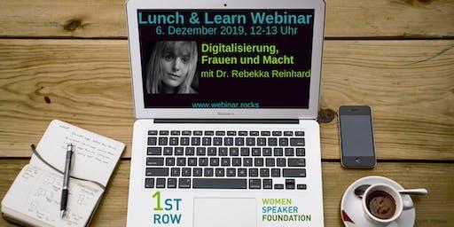 """Webinar """"Digitalisierung, Frauen und Macht"""" mit Dr. Rebekka Reinhard"""