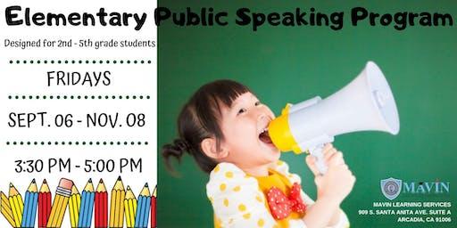 Elementary Public Speaking