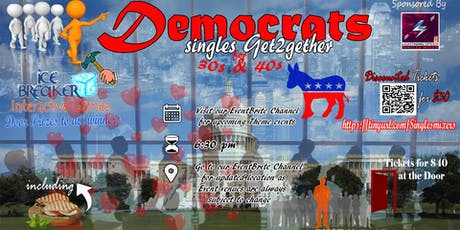"""""""Democrats Singles Get2gether for all 30s and over"""": POSTPONED TO OCTOBER tickets"""