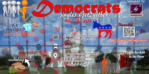 """Democrats Singles Get2gether for 30s +"": Sharing political views and love"