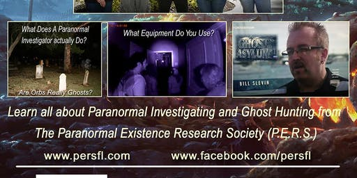 Paranormal Existence Research Society presents an Evening of Paranormal