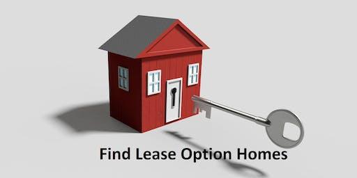 Find Lease Option Homes
