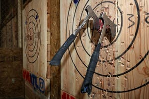 Happiness Hour   Axe Throwing!