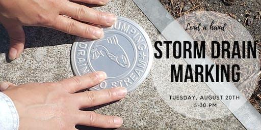 Storm Drain Marking Volunteer Event