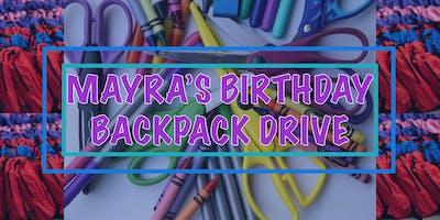 Mayra's Birthday Backpack Drive