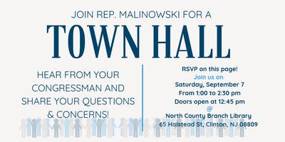 Town Hall with Congressman Tom Malinowski