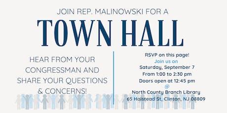 Town Hall with Congressman Tom Malinowski tickets