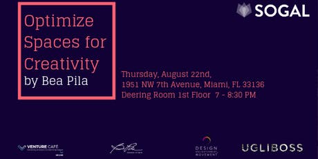 Optimize Spaces for Creativity by Bea Pila tickets
