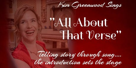 "Kim Greenwood Sings ""All About That Verse"" tickets"