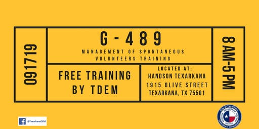 G-489 Management of Spontaneous Volunteers