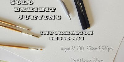 Applying for a Solo Exhibit: Information Sessions