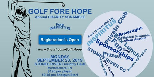 GOLF Fore HOPE Tournament benefiting INSPIRITUS Charities - September 23